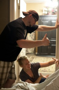 View More: http://ochoaphotography.pass.us/meadow dad and doula recreate their positions when mom birthed standing up