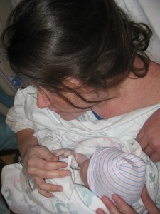 Catching breath holding baby after all natural hospital VBAC