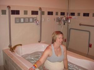 hospital VBAC laboring in birth pool